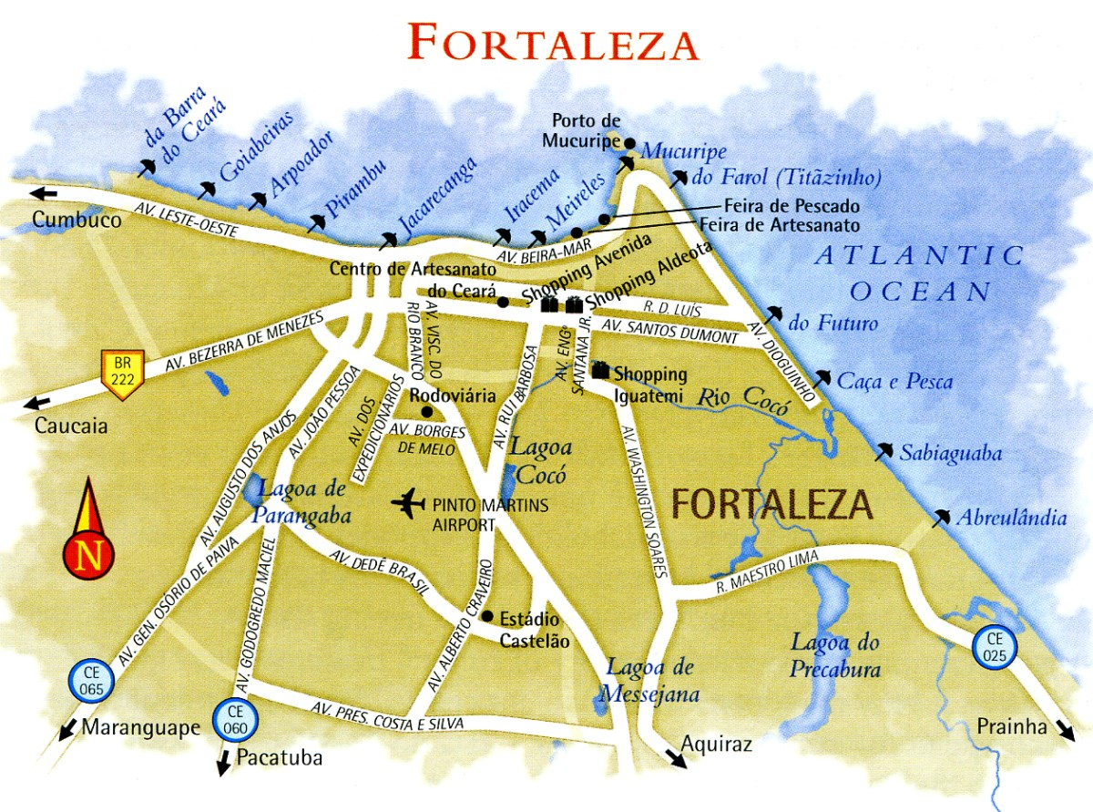 Map of Fortaleza in Ceara