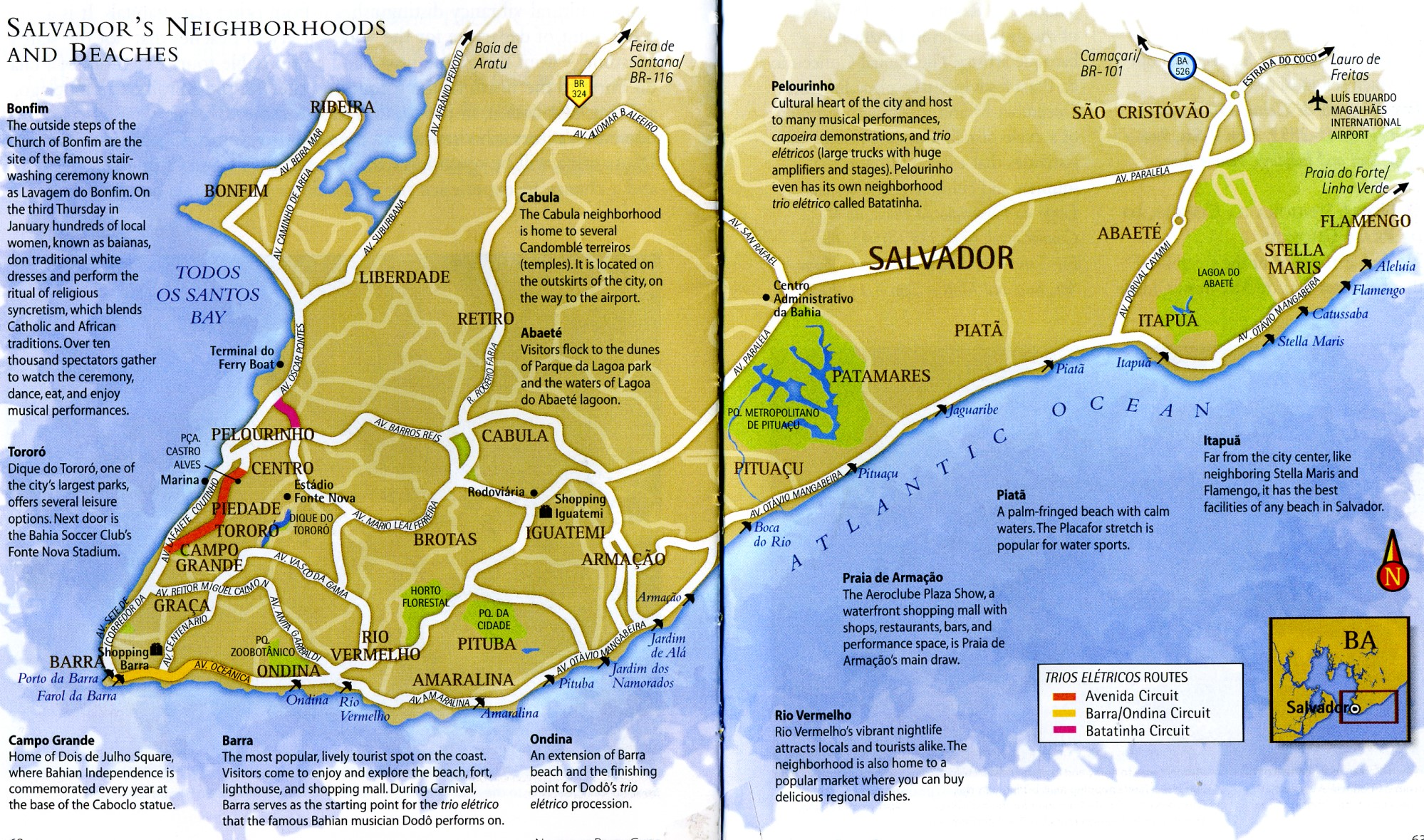 Map of Salvador de Bahia