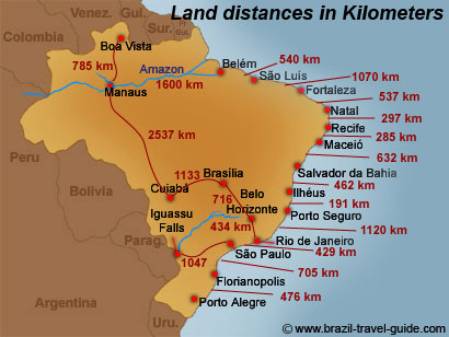 brazil tourist attractions map
